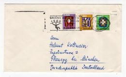 1967. YUGOSLAVIA, SLOVENIA, LJUBLJANA TO GERMANY COVER, FLAM: HAPPY NEW 1968 YEAR - Covers & Documents