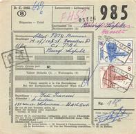 Belgien Bahnpost Spoorwegdoc 1957 Chimay - 1952-....