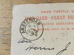 K14 Great Britain Stationery Entier Postal Ganzsache P 26 From London To Amsterdam To Shipmail!! - Briefe U. Dokumente