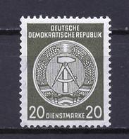 Allemagne Démocratique - Germany - Deutschland Service 1958-59 Y&T N°S50D Type 4 K14 - Michel N°D37B *** - 20p Armoirie - Service