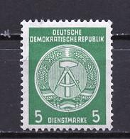 Allemagne Démocratique - Germany - Deutschland Service 1958-59 Y&T N°S50A Type 4 K14 - Michel N°D34B *** - 5p Armoirie - Service