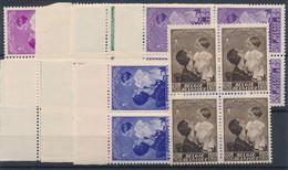 [** SUP] N° 447/54, Reine Astrid, La Série En Blocs De 4 - Cote: 180€ - Unclassified