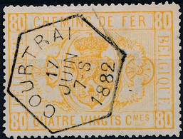 [O SUP] TR5 (sans Trou), Obl Hexagonale De Courtrai - Cote: 75€ - Zonder Classificatie