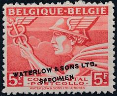 [** SUP] Type TR288 - 5F Rouge 'Belgique-Belgie' Avec Annulation Specimen De La Firme Waterlow And Sons. Rare - Zonder Classificatie