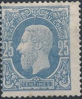 [* TB] N° 3, 25c Bleu. Signé - Cote: 85€ - 1884-1894 Vorläufer & Leopold II.