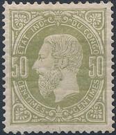 [* TB] N° 4, 50c Réséda. Centrage Parfait - Cote: 30€ - 1884-1894 Vorläufer & Leopold II.