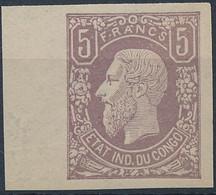 [(*) SUP] N° 5, Faux De Référence Non Dentelé - 1884-1894 Vorläufer & Leopold II.