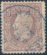 [O TB] N° 5, Faux De Référence Avec Obl 'Banana' - 1884-1894 Vorläufer & Leopold II.
