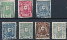 [**/* SUP] N° 6*, 7**,8**, 8a*,9**,10* Et 12*. 7 Valeurs. Voir Photo - 1884-1894 Vorläufer & Leopold II.