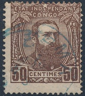 [O SUP] N° 9, 50c Brun-rouge. Très Frais - Cote: 44€ - 1884-1894 Vorläufer & Leopold II.