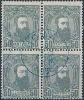 [O TB] N° 10, 50c Gris En Bloc De 4 Avec TB Obl Centrale De Boma - 1884-1894 Vorläufer & Leopold II.