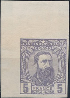 [* SUP] N° 11, 5F Violet Non Dentelé, Coin De Feuille. Réimpression Lenoir - 1884-1894 Vorläufer & Leopold II.
