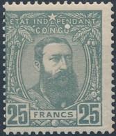 [** SUP] N° 13A, 50F Gris Non émis - Fraîcheur Postale - Cote: 140€ - 1884-1894 Vorläufer & Leopold II.