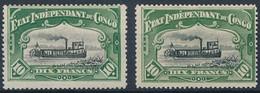 [* SUP] N° 29, 10F Vert - 2 Exemplaires. Nuances Claire Et Foncée - Cote: 420€ - 1894-1923 Mols: Mint/hinged