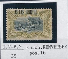 [* TB] N° 45-cu, 50c Olive - Surcharge Renversée. Annotation Tavano. - Cote: 750€ - 1894-1923 Mols: Mint/hinged