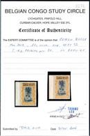 [** SUP] N° 42PT, 15c Ocre. Fraîcheur Postale Et Bdf. Certificat Photo Belgian Congo Study Circle - Cote: 250€ - 1894-1923 Mols: Mint/hinged