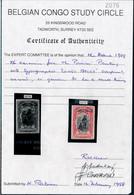 [* TB] N° 48PT, 5F Rouge-carmin. Infime Mince Cité Par Scrupule. Certificat Photo Belgian Congo Study Circle - Cote: 240 - 1894-1923 Mols: Mint/hinged