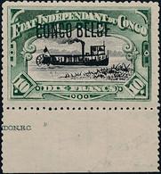 [* SUP] N° 49PT, 10F Vert-bleu - Bord De Feuille Et Inscription. Rare - Cote: 385€ - 1894-1923 Mols: Mint/hinged