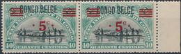 [** SUP] N° 85A, 5c/40c Surcharge CONGO BELGE En Paire - Fraîcheur Postale - Cote: 440€ - 1894-1923 Mols: Mint/hinged