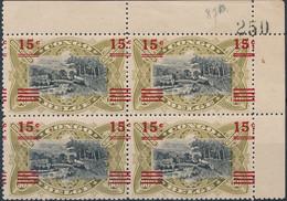 [** SUP] N° 87B, 15c/50c Unilingue En Bloc De 4 - Fraîcheur Postale. Signés - Cote: 168€ - 1894-1923 Mols: Mint/hinged