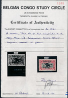 [** SUP] N° 91A, 1921/1F Surcharge CONGO BELGE - Fraîcheur Postale Et Certificat Photo Belgian Congo Study Circle - Cote - 1894-1923 Mols: Mint/hinged