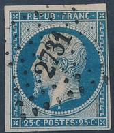 [O SUP] N° 10, Superbe Obl 'PC2731' Rosières De Picardie - 1852 Luis-Napoléon