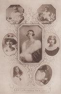 Marie-José Of Belgium, Queen Of Italy, Wife Of Umberto II, Various Images From Her Life C1920s/30s Vintage Postcard - Royal Families