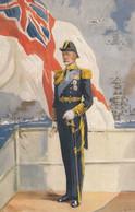 King George V, Portrait Silver Jubilee 1935, UK Royalty C1930s Vintage Postcard - Familias Reales