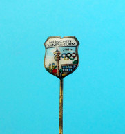 OLYMPIC GAMES MUNICH 1972 GERMANY Nice Old Enameled Porcelain Pin Badge * Olympia Olympiade Munchen '72. Deutschland - Sin Clasificación