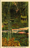 New Hampshire White Mountains Franconia Notch Cannon Mountain Aerial Passenger Tramway Curteich - White Mountains
