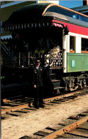 """New Hampshire White Mountains North Conway The Conway Scenic Railroad Parlor Observation Car """"Gertrude Emma"""" - White Mountains"""