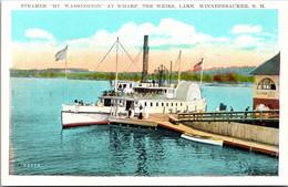 "New Hampshire Lake Winnepesaukee The Weirs Steamer ""Mt Washington"" At Wharf - Sonstige"