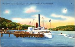 "New Hampshire Lake Winnnipesaukee Steamer ""Mt Washington"" At Alton Bay - Sonstige"