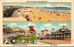 New Hampshire Hampton Beach Ocean Avenue And The Casino Curteich - Sonstige