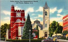 New Hampshire Nashua Public Library First Congregational Church And Tavern - Nashua