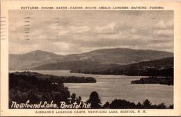 New Hampshire Bristol Newfound Lake Adebahr's Lakeside Camps 1937 - Sonstige