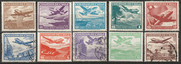 Chile 1950 Sc C135-44  Air Post Set MLH*/used - Chile