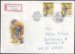 Czechoslovakia - 1992 D - Olympic Games 1992 - FDC  (tennis) - Sommer 1992: Barcelone