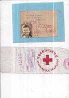 Guerre 39-45 CROIX-ROUGE . Carte De Secouriste M.lle RUPPERT 12/8/ 1944  Et Brassard Tissu Soyeux  8 X 32 Cm No: 18171 - Oorlog 1939-45
