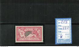 FRANCE A CHARNIERE * 208 - 1900-27 Merson
