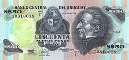 URUGUAY 1989 50 Nuevo Peso - P.61Ab Neuf UNC - Uruguay