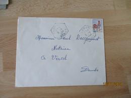 Cleron  Recette Auxiliaire Cachet Hexagonal - 1921-1960: Modern Period