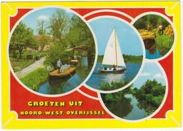 Groeten Uit Noord-West Overijssel - (o.a. Punter Met Melkbussen, Zeilboot) - Andere