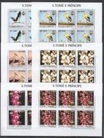 KV003 2003 S. TOME E PRINCIPE FAUNA BIRDS PLANTS FLOWERS BANGKOK 6SET MNH - Other