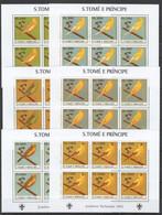KV013 2003 S. TOME E PRINCIPE FAUNA BIRDS SCOUTING 6SET MNH - Other