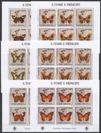 KV025 2003 SAO TOME & PRINCIPE FLORA & FAUNA BUTTERFLIES SCOUTING !!! 6SET MNH - Butterflies