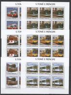KV045 2003 S. TOME E PRINCIPE TRANSPORT TRAINS 6SET MNH - Trains
