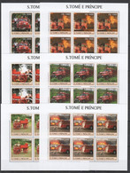 KV053 2003 S. TOME E PRINCIPE TRANSPORT FIRE TRUCKS 6SET MNH - Trucks