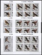 KV077 2003 SAO TOME & PRINCIPE FAUNA BIRDS OF PREY EAGLES !!! 6SET MNH - Eagles & Birds Of Prey