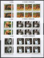 KV085 2003 SAO TOME & PRINCIPE FAUNA PETS CATS & DOGS !!! 6SET MNH - Domestic Cats